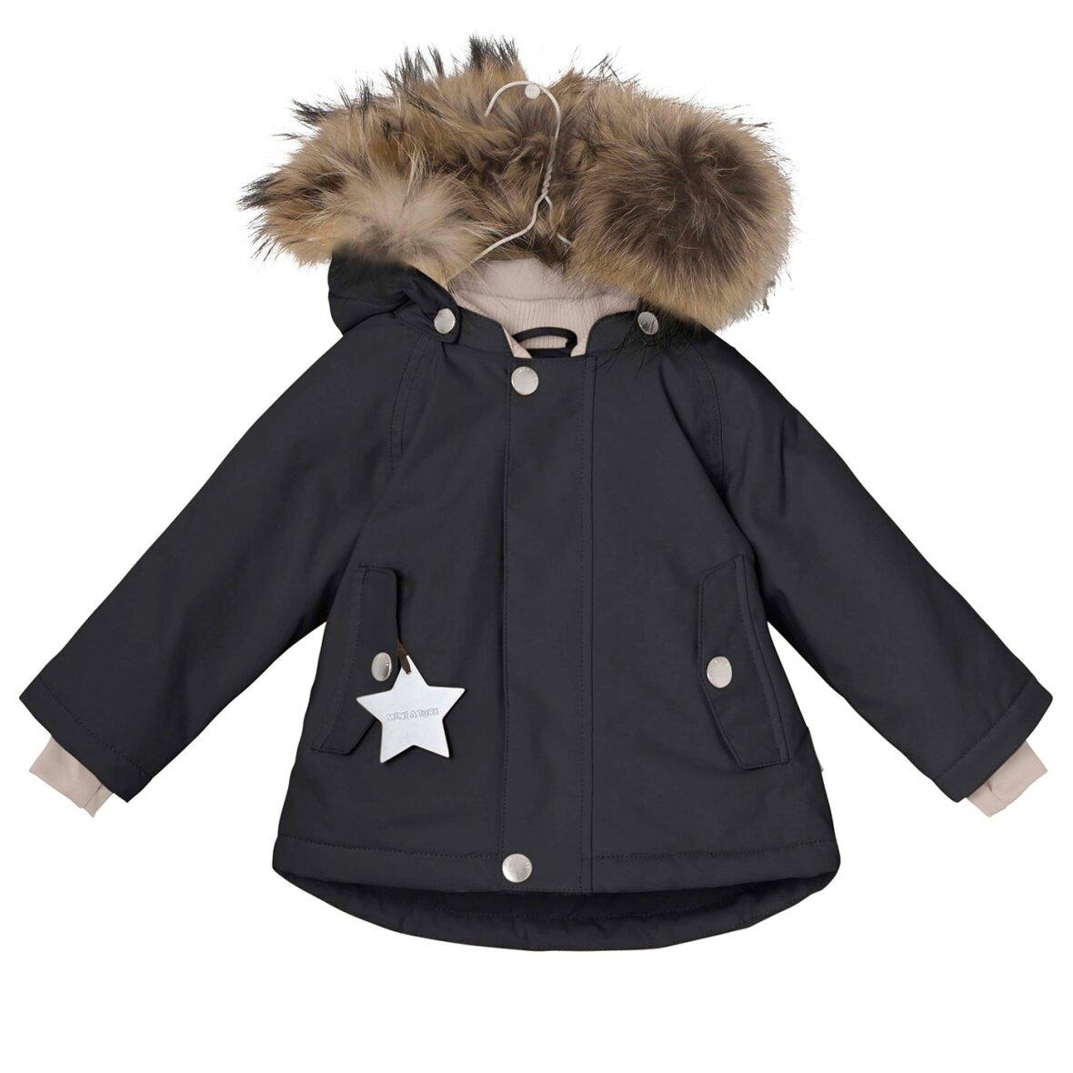 e4835e83 Sort vinterjakke med pels fra Mini A Ture - Skruuk