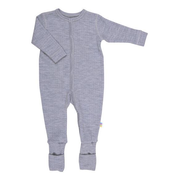 JOHA - jumpsuit 2in1 Foot Uld Grey