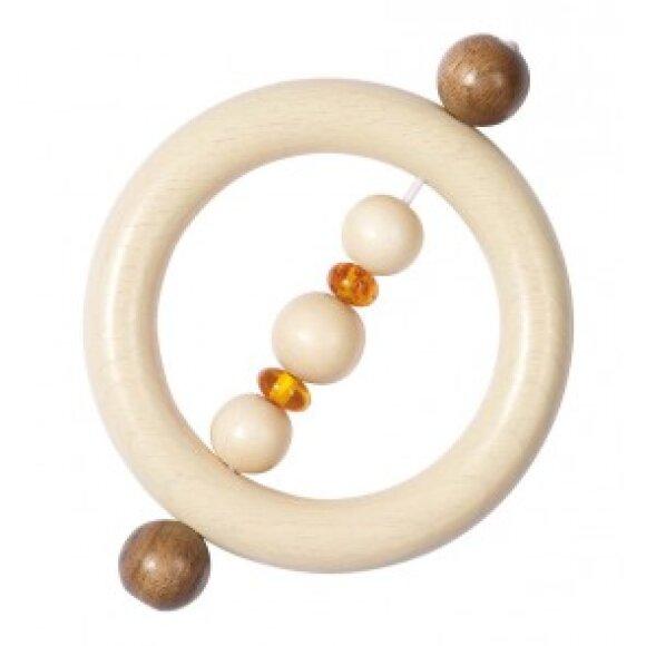 GOKI - Touch Ring Amber Wood